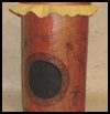 Monkey   Pod Drum with Polynesian Petroglyphs