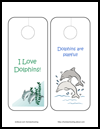 Dolphin    Door Hangers Arts and Crafts Activity