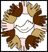 Handprint    - Dove (Unity) Wreath