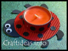 Lady   Bug Tea Light Holder