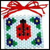 Ladybug   Beaded Banner Craft