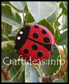Bottle   Cap Lady Bugs to Make