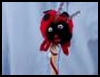 How   to make a ladybug plant stake