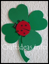 Lady   Bug on a Four Leaf Clover