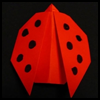 How   to Fold an Origami Ladybug
