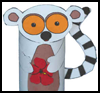 Lemur   Toilet Paper Roll Craft for Preschoolers and Toddlers