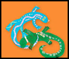 Leaping   Lizards Arts & Crafts Project for Children