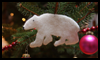 How   To Make Adorable Polar Bear Ornaments Out Of An Old Wool Sweater
