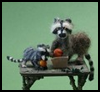 Make   a Doll House Miniature Needle Felt Raccoon