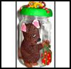 Polymer   Clay - Christmas Mouse Jar