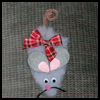 How   to Make a Fur Mouse Christmas Ornament