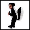 Skunk Halloween Costume for Parents to Make