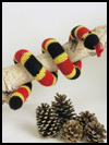 Colorful   Coral Snake Crafts Activity