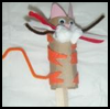 How   to Make a Tiger Craft Stick Puppet
