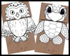 Paper   Bag Puppets, Owl and Turtle