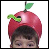 Apple   Head Visors Arts & Crafts Project for Youngsters