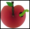 Apple   and Worm Fan Craft for Kids