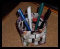 Weave a Paper Pencil and Pen Holder