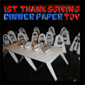First Thanksgiving Paper Toy Model