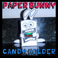 Paper Foldable Easter Bunny Candy Holder