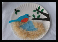 Paper Plate Blue Birds Nest