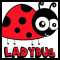 How to Draw Cartoon Ladybugs