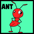 How to Draw cartoon ants