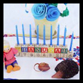 Collection of hanukkah menorah crafts