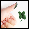 Thumb Print Four Leaf Clovers