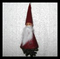 Pinecone Christmas Elves or Santa Clause Ornaments