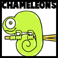 How to Draw Cartoon Chameleons