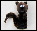 Pipe Cleaner Squirrel Finger Puppets