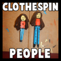 Clothespin People Figurines