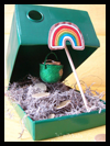Dowel and Shoe Box Leprechaun Trap