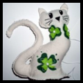 Lucky Cat for Saint Patricks Day