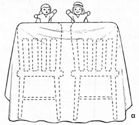 Easy Chairs and Blankets Puppet Theaters