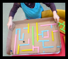 Drinking Straw Maze Toy Craft