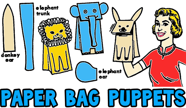 Paper Bag Donkey Craft | 347x600