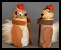 Toilet Paper Roll Walnut Squirrels
