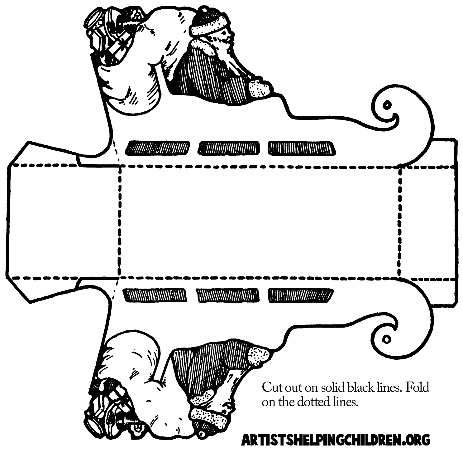 This is a picture of Gutsy Free Printable Santa Sleigh Templates