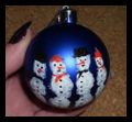 Make a Snowman Christmas ornament