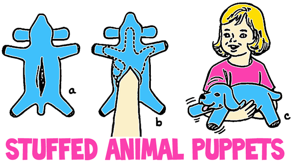 Making Stuffed Animal Puppets