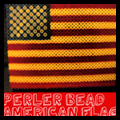 Perler Bead Flag for Veterans Day