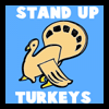 Stand Up Thanksgiving Paper Turkeys