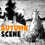 How to Draw an Autumn Landscape Scene with Easy Step by Step Drawing Tutorial