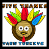Give Thanks Yarn Turkeys Centerpiece