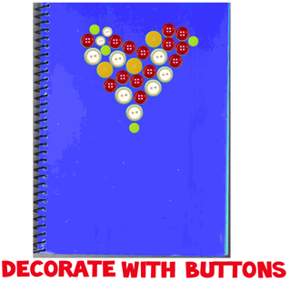 Decorating Notebooks and Binders with Buttons