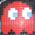 Making Mosaic Red Pacman Ghost with Tiles