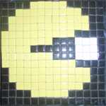 How to Make a Mosaic Pacman Pixelated Picture from Tiles