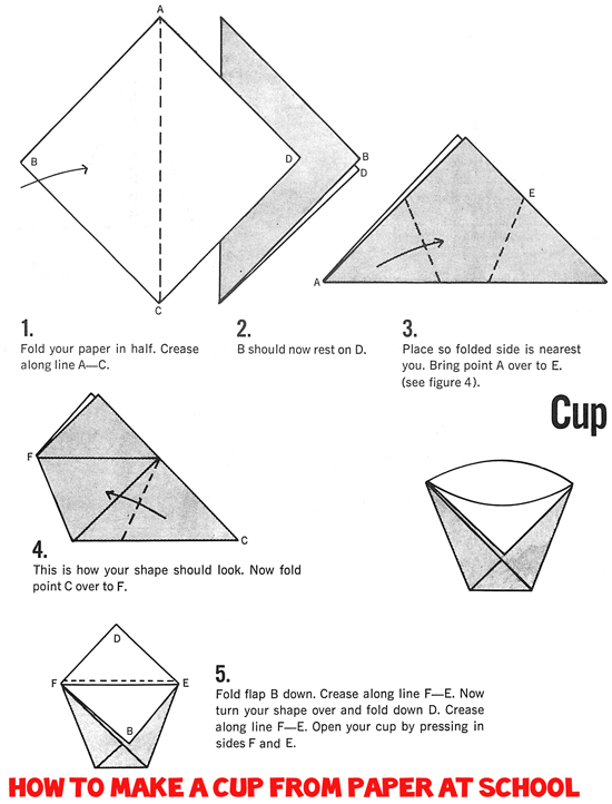 Origami Cups How To Fold Drinking Paper Folding